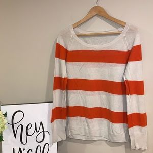 EUC | J. Crew Striped Linen | Cotton Blend Sweater